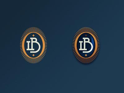 LB monogram pendant lb b l badge medallion pendant icon monogram letter branding mark logo