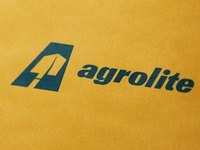 Agrolite a farming shovel icon monogram letter illustration branding mark logo