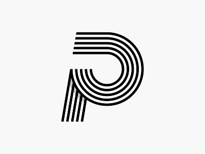 P p brand monogram letter mark branding logo