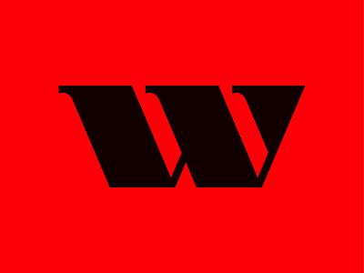 w letter w icon monogram letter mark branding logo
