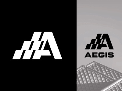 Roofing logo design roof tiles a icon monogram letter mark branding logo