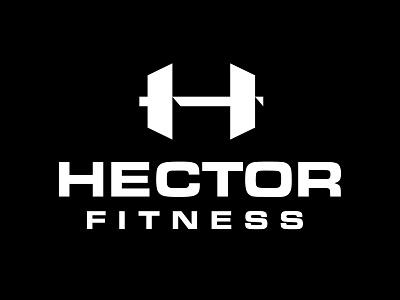 Hector Fitness fitness dumbbell weights h monogram letter mark branding logo