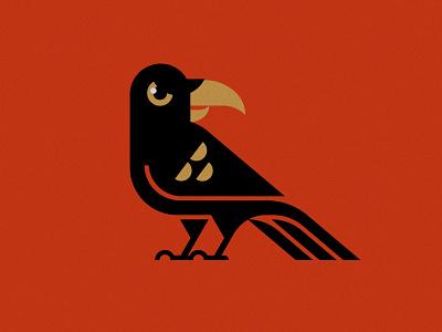 Raven halloween bird illustration raven