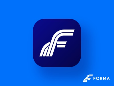Forma accounting f brand icon monogram letter mark branding logo