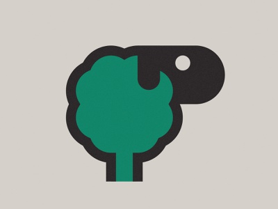 Sheep or tree? sheep tree mark branding logo