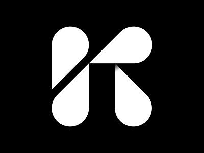 K + pins location pins k monogram letter mark branding logo