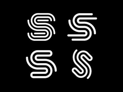 S trail road path rent travel s monogram letter mark branding logo