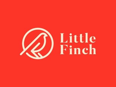 Little Finch cosmetics finch bird brand icon mark branding logo