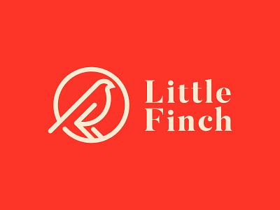 Little Finch cosmetics finch bird brand icon mark branding logo