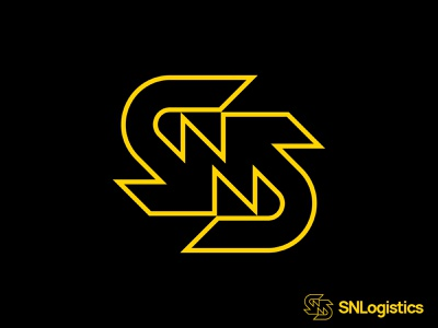 Sn Logistics arrows n s transport logistics brand monogram letter mark branding logo