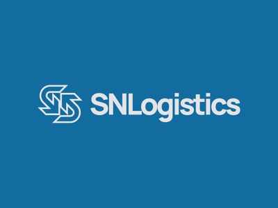 SN Logistics transport logistics arrows n s brand icon monogram letter mark branding logo