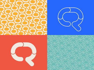 Qubee social speech speech bubble tv q icon monogram letter mark branding logo