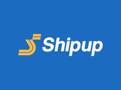 ShipUp parcel service logistics transport road s icon monogram letter mark branding logo