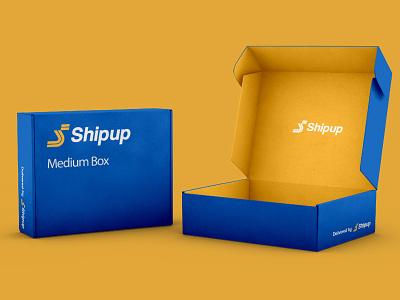 ShipUp parcel service logistics transport road s icon monogram letter mark branding logo