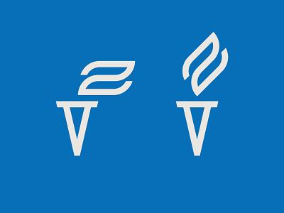 VZ torch insurance flame torch z v icon monogram letter mark branding logo