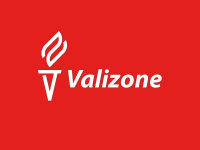 Valizone logo z v torch flame icon monogram letter mark branding logo