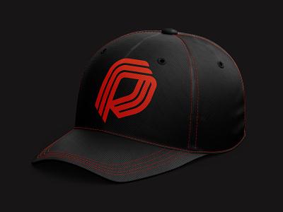 PC cap p insurance protect shield monogram letter mark branding logo