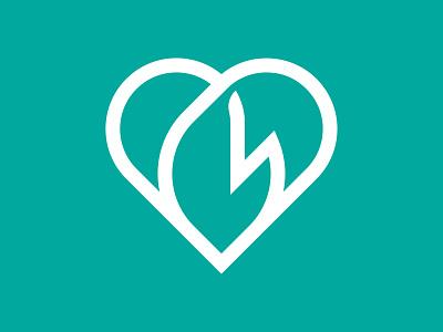 Heart+Flame  mark ngo volunteering volunteer fire flame heart vector design icon illustration mark branding logo