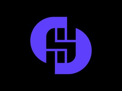 S for sim card wireless telephone sim card s vector icon monogram letter mark branding logo
