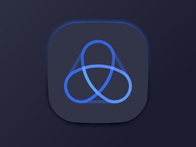 Mark banking a vector ui design icon monogram letter mark branding logo