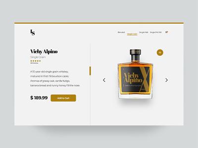 eShop liquor shop ecommerce e shop whiskey branding graphic design ui