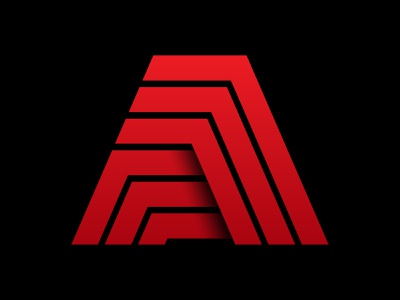 Publishing mark books geometric mountains a vector design icon monogram letter mark branding logo