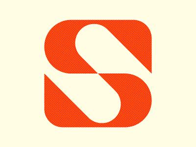 S mark modern s vector design icon monogram letter mark branding logo