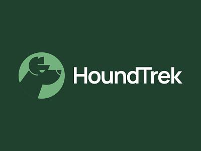 HoundTrek pet shop hound dog vector icon illustration mark branding logo