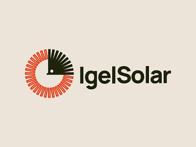 IgelSolar logo sun solar hedgehog igel vector design icon illustration mark branding logo