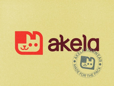 Akela Kidswear children kids pack shoes apparel akela wolf vector design icon illustration mark branding logo