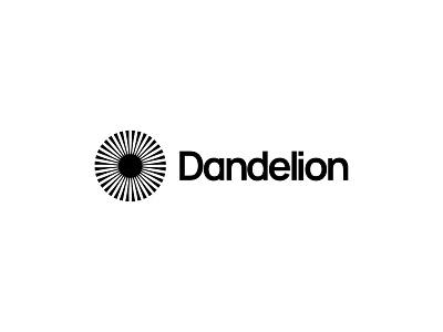 Dandelion optics iris eye optometrist optician dandelion vector design icon mark branding logo