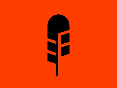 Creative feather letter f feather creativity vector design icon illustration mark branding logo