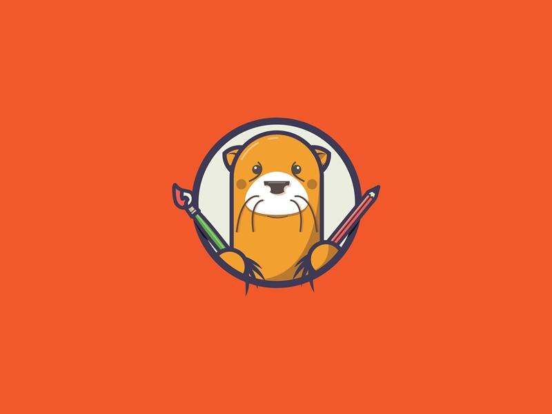 Otter Mascot school art mascot otter