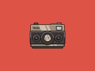 Rollei 35 illsutration rollei icon camera