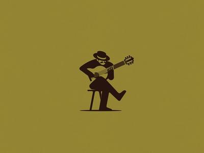 Guitarist Negative illustration space negative guitarist guitar