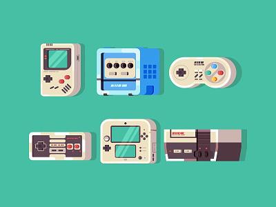 Nintendo Icon Set icon set icons icon snes nes gamepad gamecube gameboy nintendo