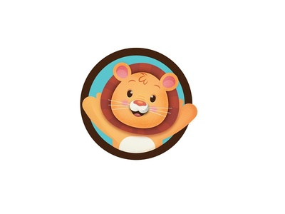 Mascot lion kindergarten logo mascot
