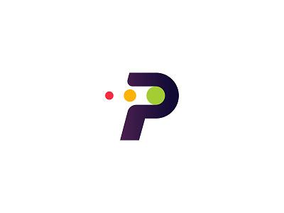 PPC logo proposal click pay traffic monogram p branding mark logo ppc