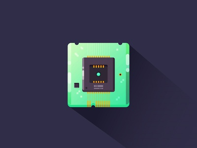 Chip illustration component computer chip