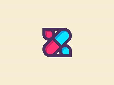 Z + PILL branding logo monogram pill letter z