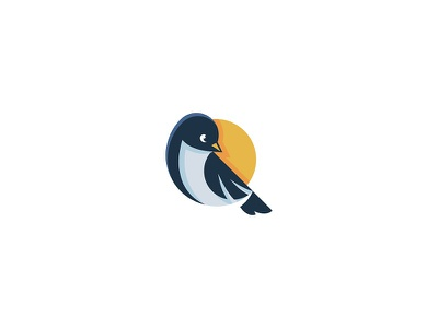 Birdie branding mark illustration logo sun bird