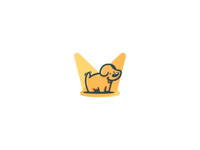 Pet Spotlight branding logo cute spotlight dog puppy pets