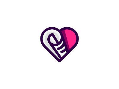 Good News Media heart mark branding logo media paper good news