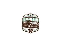 Classic car show badge