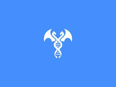 Dna Dragon branding logo mark dragon double helix dna