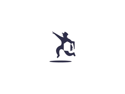 Pick up negative space mark branding illustration logo package delivery pick up