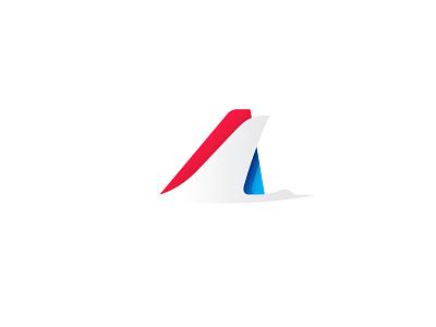 Airline logo logo brand flying travel plane airline bird crane letter a