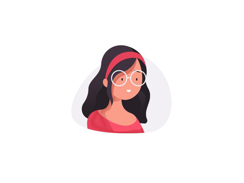Girl flat woman character illustration design girl