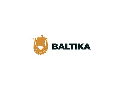 Baltika saws logo brand logo tools viking blade saw ship baltic