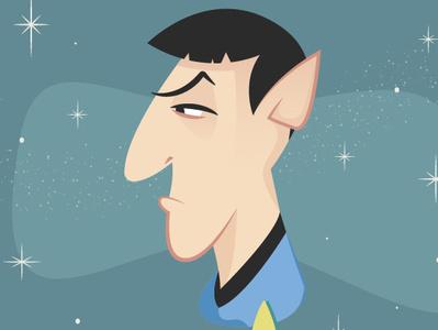 Spock Mid Century Modern illustration space star trek spcok mid century modern